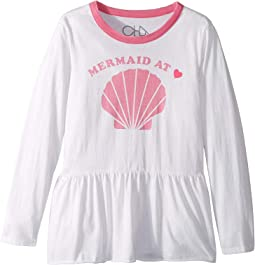 Extra Soft Vintage Jersey Mermaid at Heart Tee (Little Kids/Big Kids)