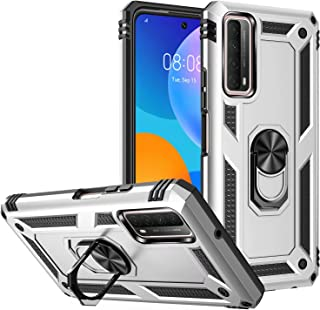 FTRONGRT Case for Huawei nova 8i, Rugged and shockproof, with Mobile Phone Holder, Cover for Huawei nova 8i-Silver