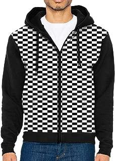 Chess Checkerboard Custom Men's Teens Long Sleeve Zipper Hoody Fleeces