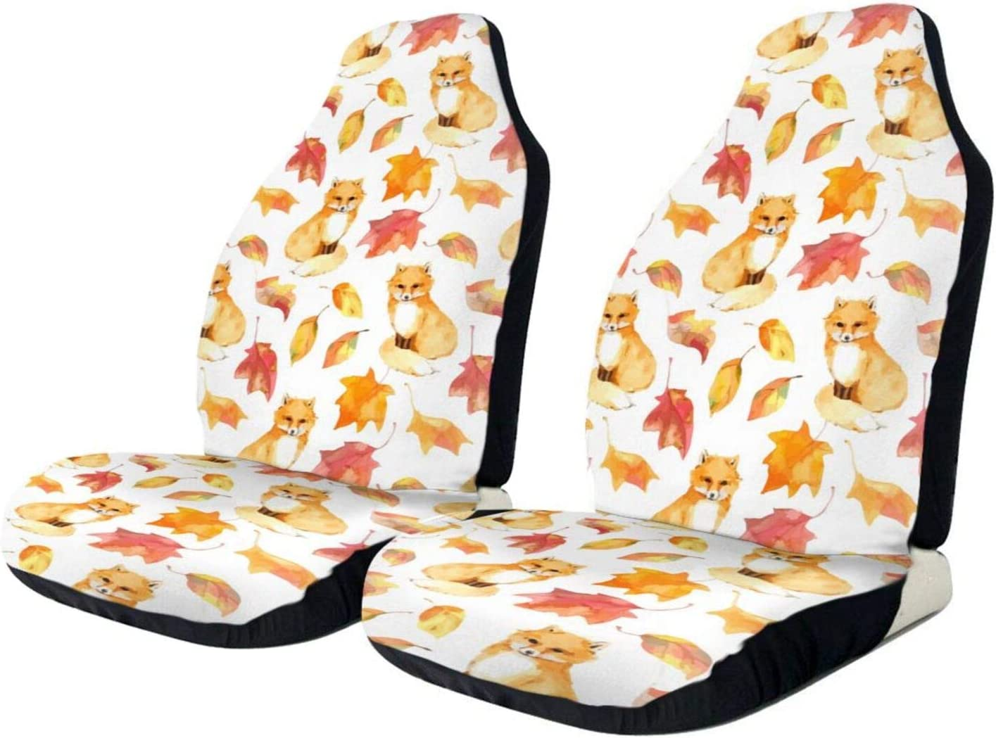 MSACRH Spring new work one after another Car Seat Covers Foxes Vehicle Red Leaves S 5 ☆ very popular Protector