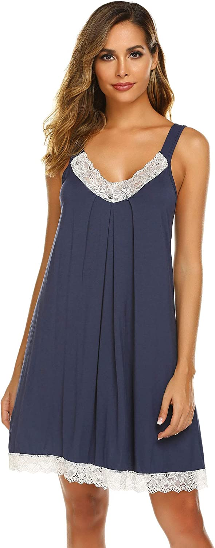 Adornlove Chemise Sleepwear Women's Lace Nightgown Sexy Tank Sleep Dress Full Slips S-XXL