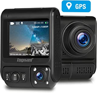 Máy thâu hình đặt trên xe ô tô – TOGUARD Uber Dual Dash Cam Built-in GPS in Car Driving Recorder 1080P Front and 1080P Cabin Dash Camera IR Night Vision 2″ 330° Car Camera with Parking Monitor, WDR, Motion Detection for Car Taxi