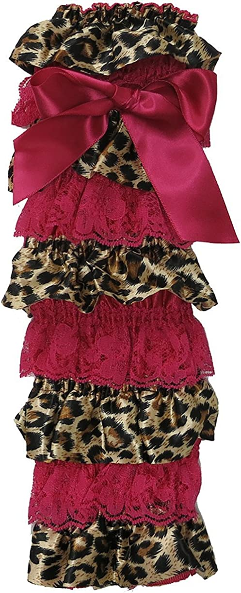 Max 46% OFF Wenchoice Girl's Hot 70% OFF Outlet Pink Brown Cheetah One S Leg Lace Warmers