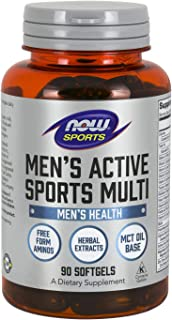 NOW Sports Nutrition, Men's Extreme Sports Multi with Free-Form Amino Acids, ZMA®, Tribulus, MCT Oil, and Herbal Extracts,...