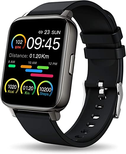 MuGo Smart Watch, 1.69 inch Fitness Tracker, Smartwatch with Heart Rate/Sleep Monitor, Calorie/Step Counter Activity Tracker, Stopwatch, Blood...