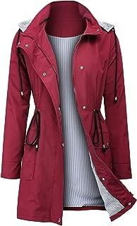 Raincoats Waterproof Rain Jacket Active Outdoor Detachable Hooded Women's Trench Coats