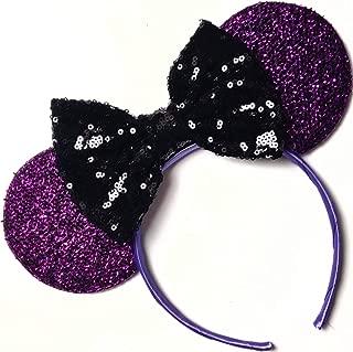 The Nightmare before Christmas inspired ears, Jack ears, Sally inspired ears, Mickey Ears, Halloween Disney Ears,purple minnie ears