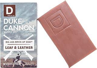 Duke Cannon Great American Frontier Men's Big Brick of Soap - Leaf + Leather, 10oz, Blue, 1 Bar