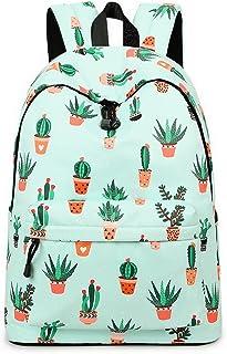comprar comparacion Acmebon Mochila Escolar de Ocio Ligera y Moderna - Cartera Escolar para Niñas y Niños con Lindo Estampado Cactus 626