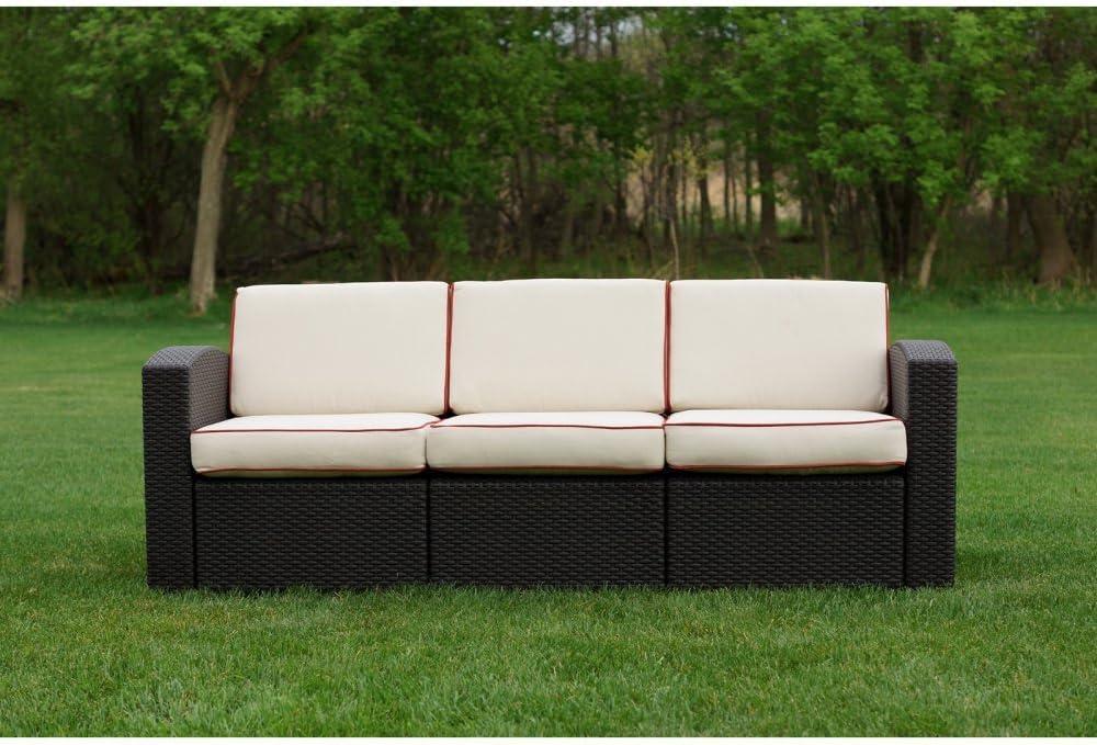 Cielo overseas OSBIT Patio Brown Ivory Ultra-Cheap Deals Sofa