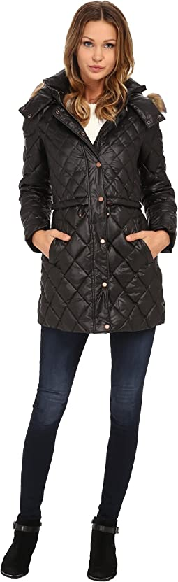 """Kava 32"""" Diamond Quilted Down w/ Faux Fur Hood"""