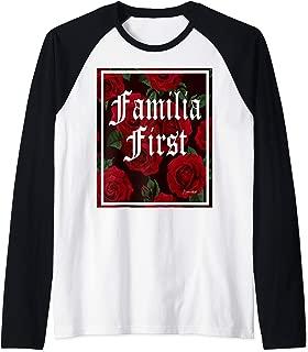 FAMILIA FIRST RED ROSES T SHIRT Raglan Baseball Tee