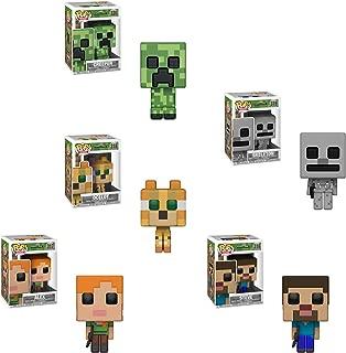 Funko Pop! Games: Minecraft - Set of 5 - Steve, Alex, Creeper, Ocelot, Skeleton