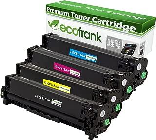 EcoFrank Compatible Toner Cartridge Replacement for HP 305X CE410X 305A CE411A CE412A CE413A (Black, Cyan, Yellow, Magenta)