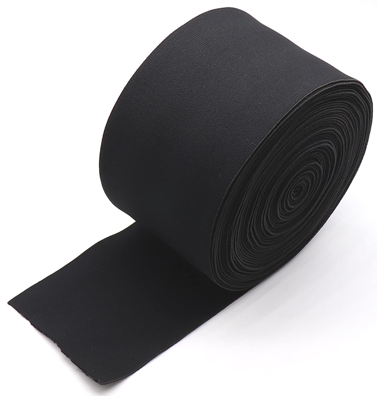 10cm/4 Inch Black Springy Stretch Knitting Elastic Spool Elastic Bands, 13.89 Yard High Elasticity Heavy Stretch Sewing