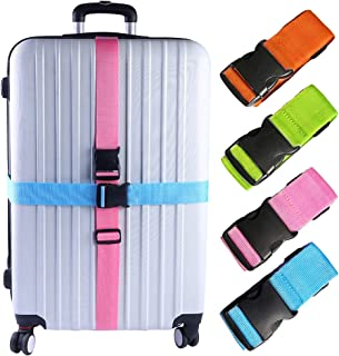 4 PCS Luggage Straps Suitcase Belts Travel Accessories Bag Straps, Multicolored, One Size