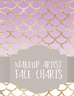 Makeup Artist Face Charts: Notebook for Face Painting and Makeup Artists (Face Charts for Makeup Artists)