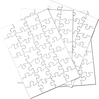 Inovart Puzzle-It 28-Piece Blank Puzzle, 24 Puzzles Per Package, 5-1/2