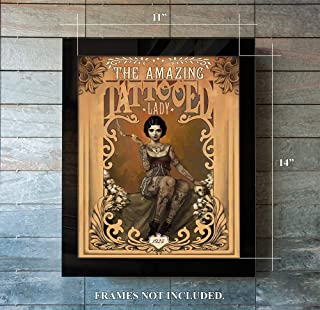 The Amazing Tattooed Lady Original 1923 (11 x 14) Unframed Print for Anyone Who Likes the Unusual