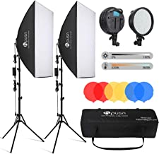 HPUSN LED Softbox Lighting Kit Professional Studio Photography Equipment 24x36 Inch 3200-5600K 48W Dimmable LED Light with...