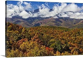 Autumn View of Appalachian Mountains from Blue Ridge Parkway, North Carolina Canvas Wall Art Prin.