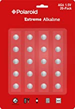Polaroid Extreme AG6 LR69 370 371 LR920 SR920SW 1.5V Button Cell Alkaline Batteries No Mercury 0% Hg (20-Pack) - 2025 Expiry Date