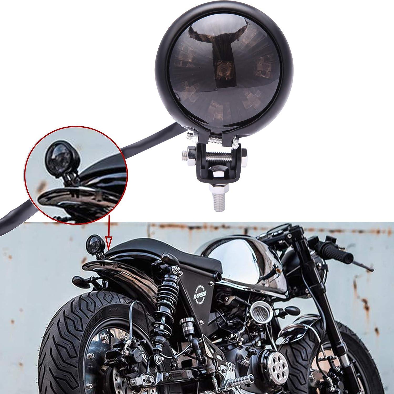 Motorcycle Tail Light Red 8 LED Stop Lamp for Harley Chopper Bobber Cafe Racer Bike