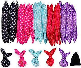 30 Pieces Hair Curler Rollers DIY Night Sleep Foam Hair Styling Tools Flexible Soft Sponge Pillow Hair Rollers With Storag...