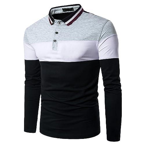 22f4e18a2694d Boom Fashion Hombre Camisetas y Polos Mangas Largas Casual Oficina Botón  Camisas