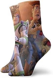 Dfhrtgre, Calcetines de Toy Story para hombres, mujeres, adolescentes, niñas, niños, diseño divertido y novedoso, informales, cómodos, el mejor regalo