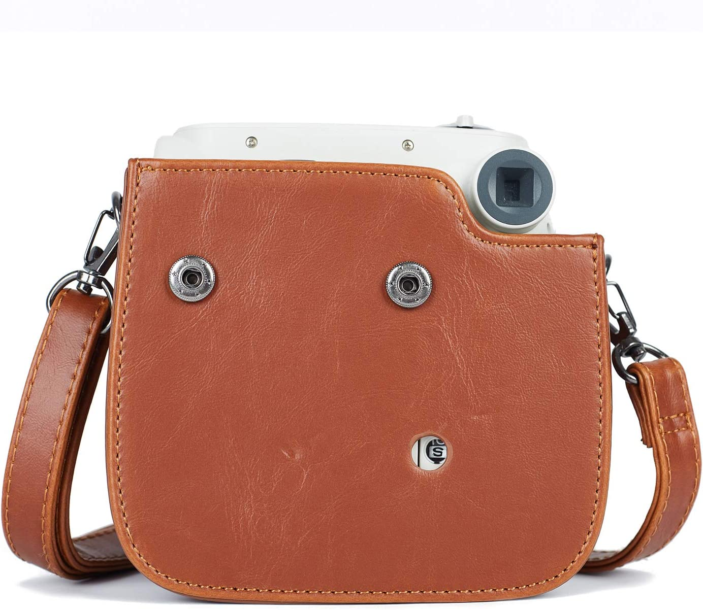 Brown Premium Vegan Leather Bag Cover with Removable Strap Phetium Protective Case Compatible with Instax Mini 7s Instant Film Camera//Polaroid PIC-300
