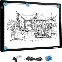 A3 LED Light Pad for Diamond Painting,Ultra-Thin USB Powered Dimmable Brightness Magnetic Artcraft Tracing Light Board App...