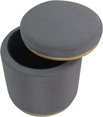Critter Sitters Gray Vanity Stool with Storage Lid, CSVNTYSTSTL-Gry