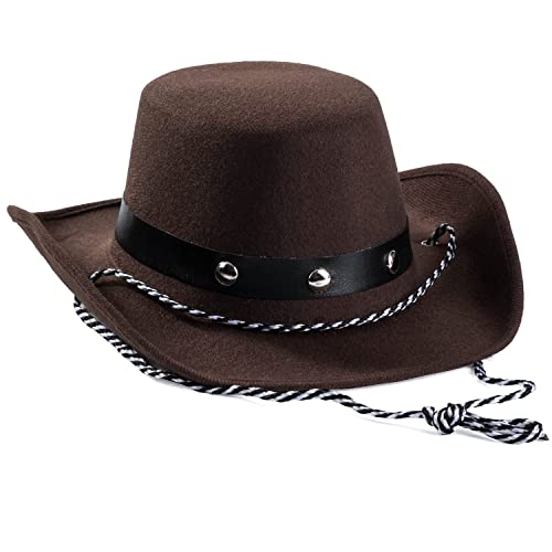 8922e347d51 Baby Cowboy Hat - Cowboy Hat Toddler – Studded Cowboy Hat - Brown Felt Cowboy  Hat