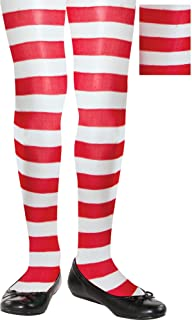 amscan Candy Cane Fabric Tights for Children   Party Costume