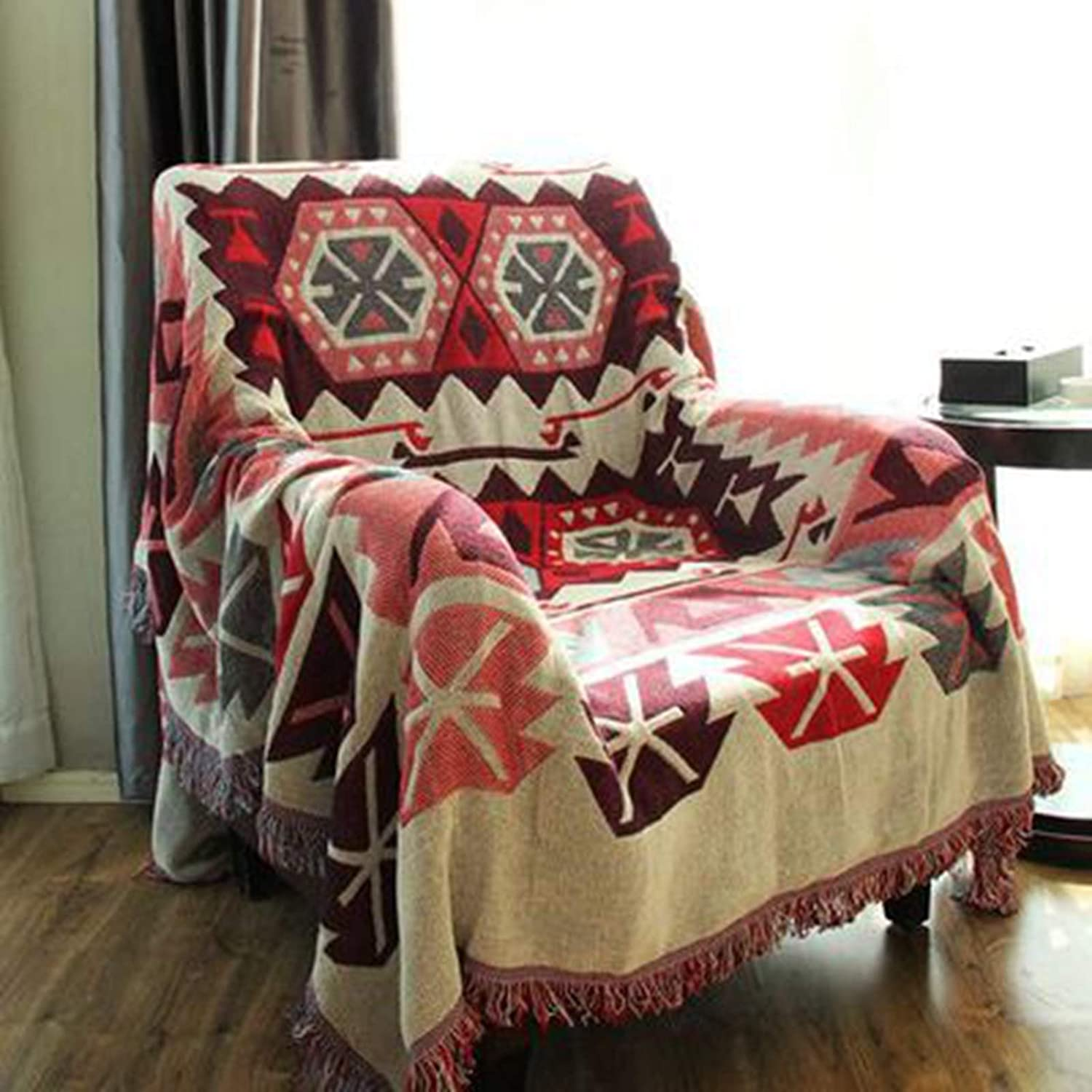 Bohemian Throws Blankets Soft Woven Throw Blanket supreme Knitted Cotton Max 82% OFF