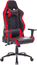 PRO SYSTEM AUDIOTEK Silla Gamer Ergonomica Reclinable Vinil Resitente Colores Gaming Chair Cojin Lumbar (Roja Cuadriculada...