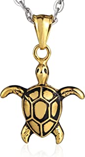 Daesar Stainless Steel Necklace for Women and Men Turtle Pendant Necklace Chain
