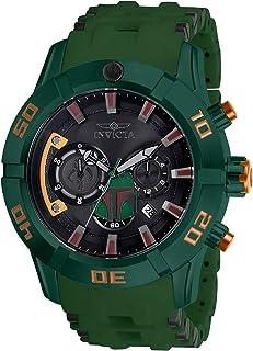 Invicta Men's Star Wars Stainless Steel Quartz Watch with Polyurethane Strap, Green, 26 (Model: 26546)