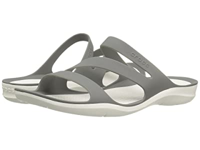 Crocs Swiftwater Sandal (Smoke/White) Women
