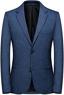 Blazer Fashion Men's Plaid Casual Suit Lapel Slim Fit Stylish Blazer Mens Wool Coats