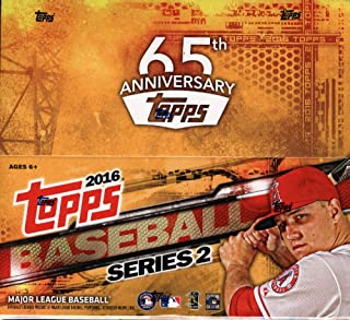 2016 Topps Series 2 Baseball Display Box. Up to 288 Cards 24 Packs With 12 Cards Each. Look For Inserts, Autographs and Relics of Today's Stars and Veteran MLB Players