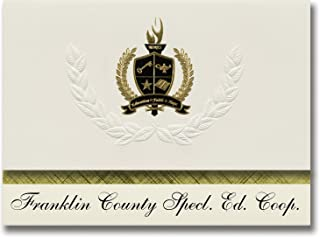 Signature Ankündigungen Franklin County (Specl. ED. Coop. (St. Clair, Mo) Graduation Ankündigungen, Presidential Elite Pack 25 mit Gold & Schwarz Metallic Folie Dichtung B078TTHSQR  Gutes Design