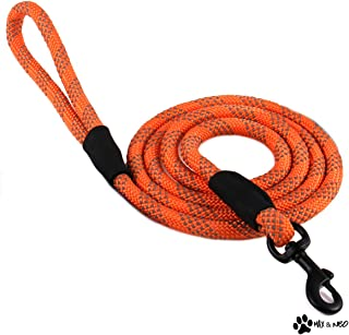 Max and Neo Rope Leash Reflective 6 Foot - We Donate a Leash to a Dog Rescue for Every Leash Sold