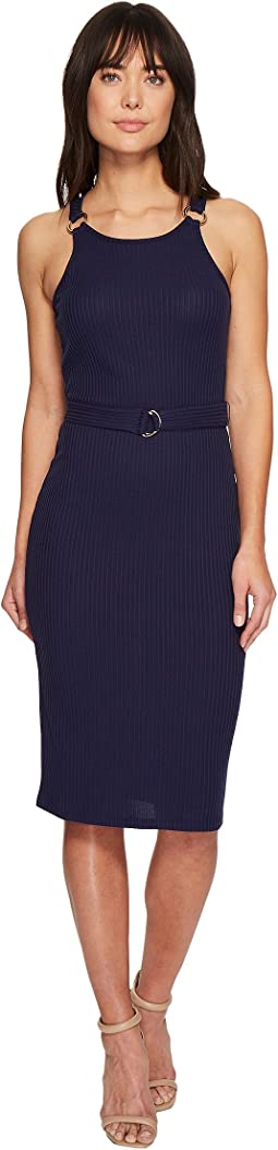MICHAEL Michael Kors - Rib Circle Trim Dress