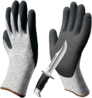 Grip Cut Resistant Gloves, Non-Slip Breathable Work Gloves, Level 5 Protection Comfortable for Garden Construction Woodworking Mechanic Auto Multipurpose Use.