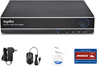 SANNCE 1080N 8CH Video Security DVR Digital Recorder, 8-Channel 1080N, Supports 960H/HDCVI/HDTVI/AHD/IP, HDD & Cameras NOT Included, Remote Smartphone Access,Motion Detect,Email Alarm(NO HDD)
