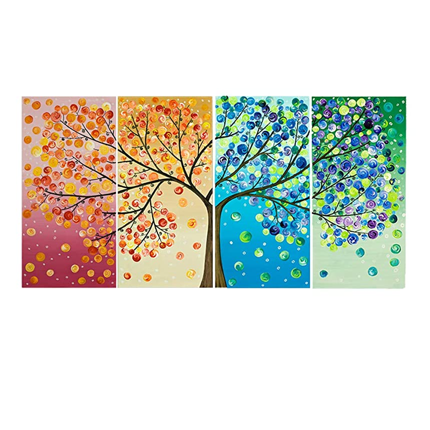 DIY 5D Landscape Tree Bird Diamond Embroidery Painting By Number Scenery Cross Stitch Embroidery Kit Diamond Picture Full Drill Round Diamond Painting Wall Art