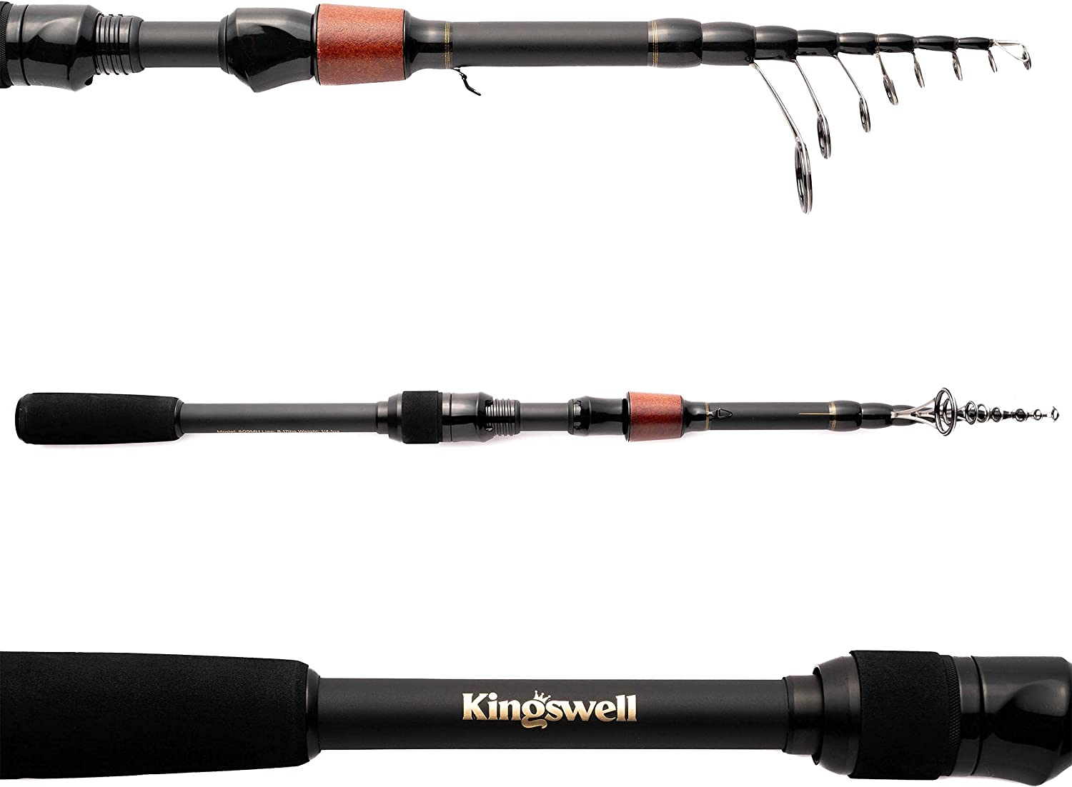 Kingswell Telescopic Fishing Rod and Combo Portable Reel Max Purchase 43% OFF Carbon