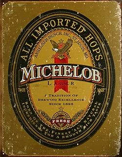 Michelob Beer Logo Distressed Retro Vintage Tin Sign
